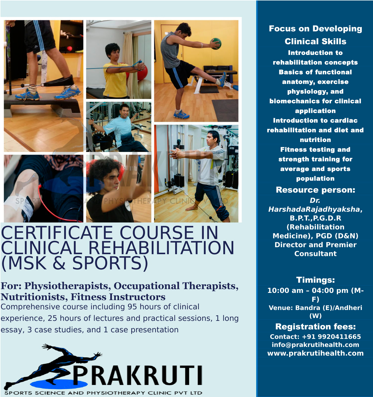 Clinical Rehabilitation (MSK & SPORTS)
